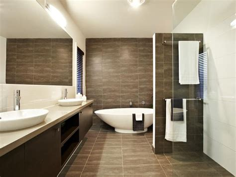 Tiling A Bathroom Floor Youtube by Modern Bathroom Design With Twin Basins Using Tiles