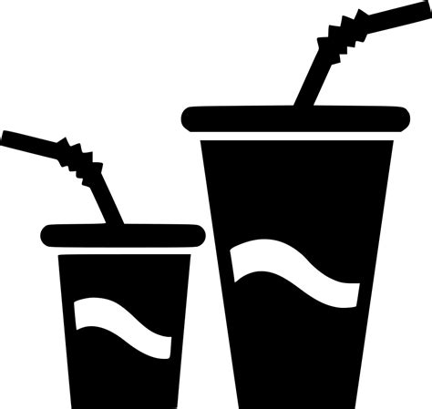 small big paper cups drink water soda svg png icon