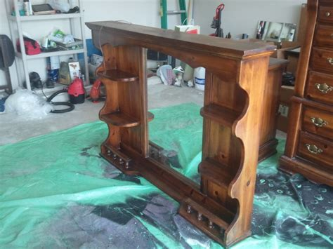 shelf that turns into a table diy dresser hutch turned sofa table shelf hannah bunker