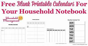Printable Blank Monthly Calendar Free Blank Printable Calendars For Your Household Notebook