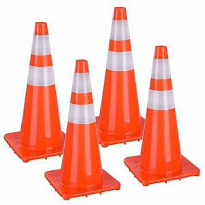Yescomusa  28 U0026quot  Traffic Cones Reflective Safety Cones