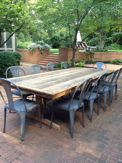 outdoor patio rustic farm tableswell