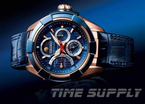 Jam Seiko Kinetic Blue Gold details about seiko premier kinetic direct drive moon