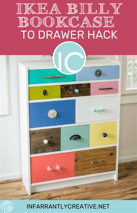 ikea billy bookcase  drawer hack infarrantly creative