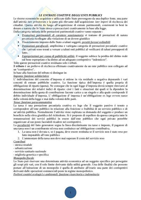 dispensa di diritto tributario primo parziale appunti di diritto tributario