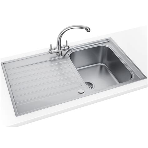Compact Sinks by Franke Ascona Asx 611 860 Stainless Steel 1 0 Bowl Inset