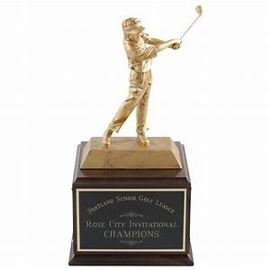 Championship Golf Trophy With Perpetual Engraving