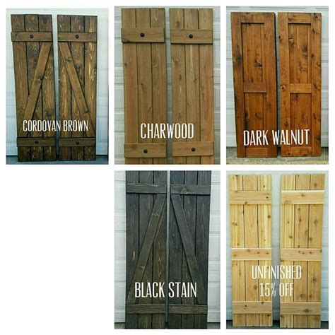 wood shutters rustic exterior shutters quot board and