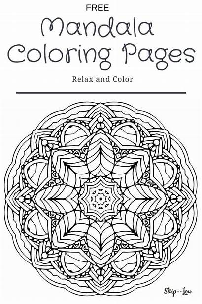 Coloring Pages Mandala Skiptomylou Youngsters Mind Printable