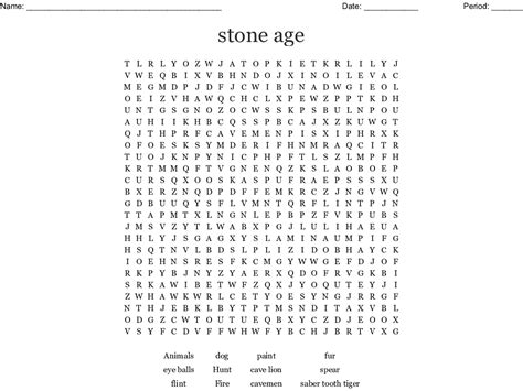 stone age word search wordmint