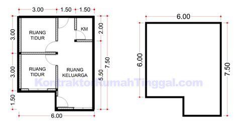 denah rumah sederhana ukuran  desain rumah type