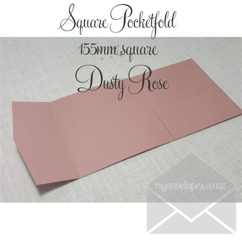 Dusty Rose Pocketfold Wedding Invitations