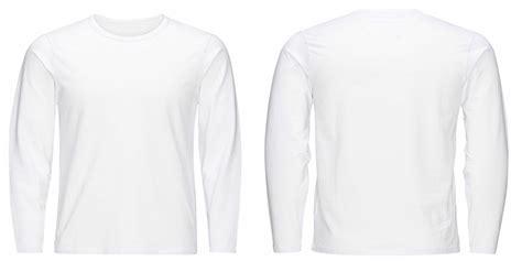 desain baju polos putih lengan panjang depan belakang