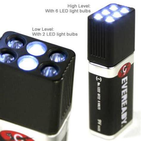 9 volt led torch flashlight 6 white light bulb emergency
