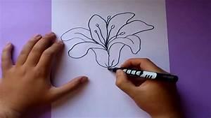 Como dibujar una flor paso a paso | How to draw a flower ...