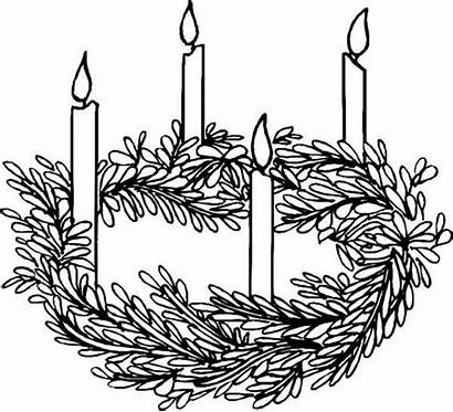 Advent Coloring Wreath Printables Candles Four Activity