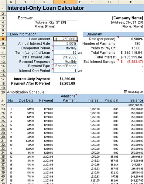 mortgage amortization table excel loan amortization schedule and calculator