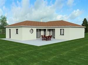 Maison Plain Pied En L : maison de plain pied de 100 m2 ~ Melissatoandfro.com Idées de Décoration