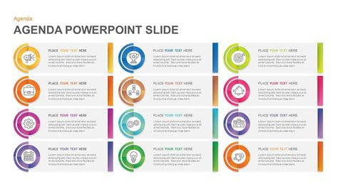 agenda powerpoint template slidebazaar