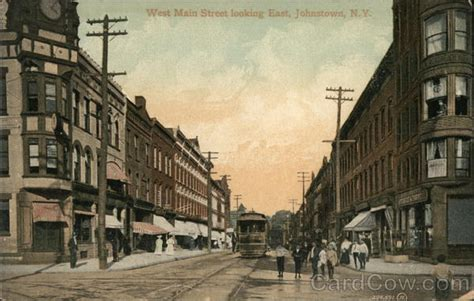 west main street  east johnstown ny postcard