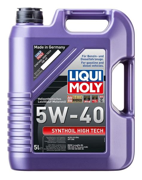 liqui moly 5w40 fully synthetic 5w 40 high tech engine from liqui moly