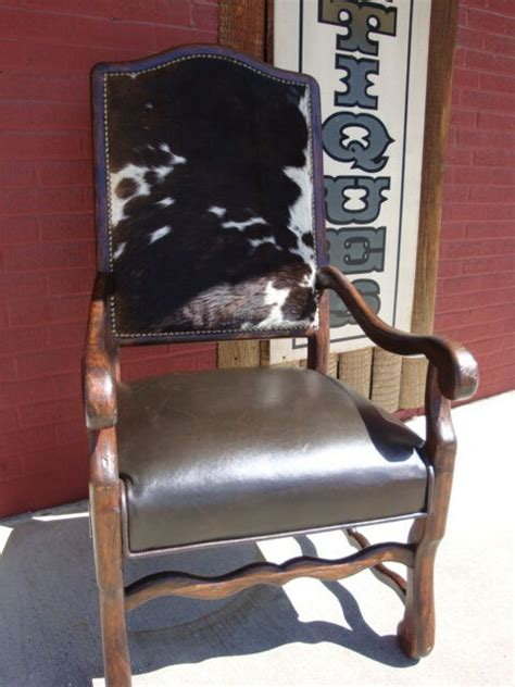 cowhide leather chair cowhide reclaimed wood arm chair brown top grain leather