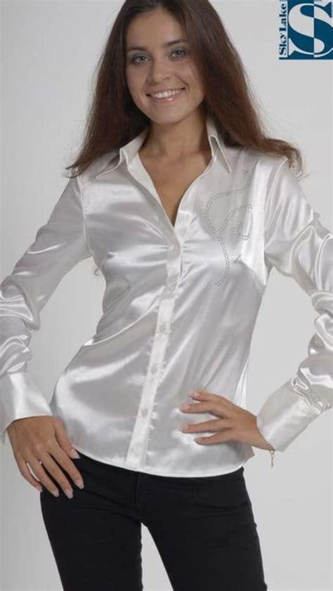 pin  mfb  satin blouses sexy outfit   satin