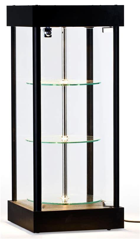 spinning glass display halogen top lights