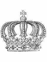 Coloring Pages Adult Crown Cool King Symbols Wearing Printables sketch template