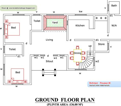 elevation of house plan home plan and elevation 2388 sq ft kerala house