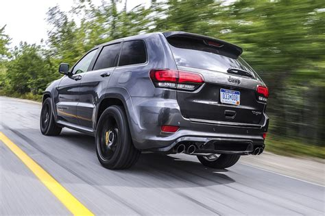 yellow jeep grand cherokee jeep grand cherokee trackhawk 2018 review carsguide