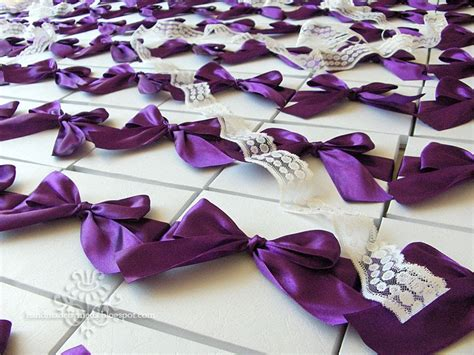 Imagine 275 Wedding Invitations In Boxes Tied With Purple