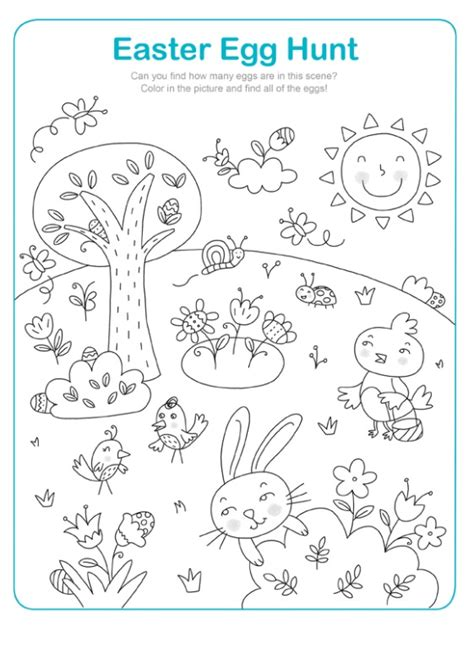 easter egg hunt worksheet for kindergarten preschool crafts 839 | Easter Egg Hunt Worksheet for Kindergarten