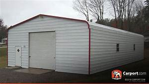 Metal garage with regular roof 2439 x 3639 shop metal for 24x36 metal garage