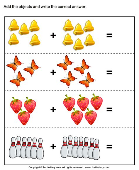 addition with pictures sums up to twenty worksheet 901 | addition with pictures sums up to twenty