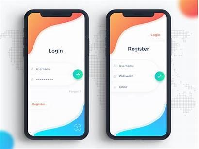 App Ios Signin Dribbble Dribble Mobile Login