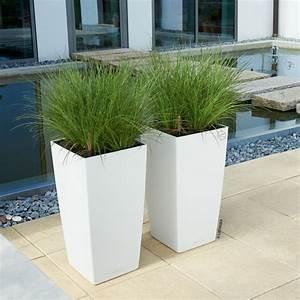 Plante D Extérieur En Pot : pot r serve d 39 eau cubico color pour plantes de balcon et terrasse ~ Teatrodelosmanantiales.com Idées de Décoration