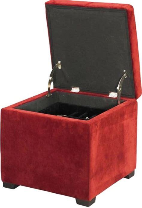 linon red   judith ottoman  jewelry storage