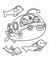 Coloring Submarine Yellow Cartoon Freees Transportation Coloringhome sketch template
