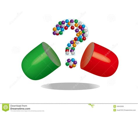Pharmacy Questions by Opening Capsule Stock Illustration Image 43642936