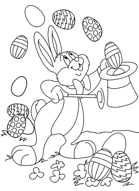 printable easter coloring pages  kids