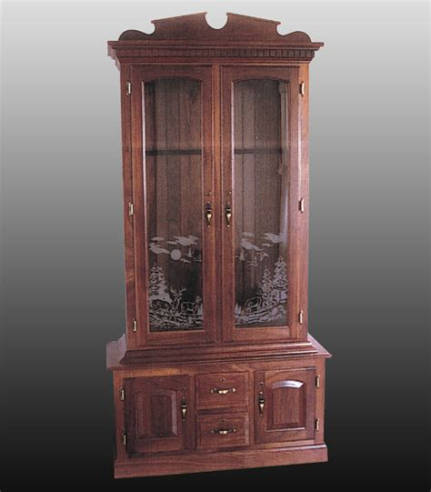 wood gun cabinet with etched glass wood gun cabinet with etched glass frosted glass for
