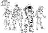 Coloring Pages Fortnite Printable Battle Royale Pdf Fornite Boys Players sketch template