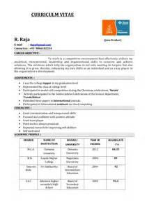 best resume format for freshers computer engineers pdf fresher resume