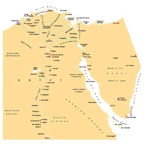 Landkarte Ägypten Karte von Ägypten - weltatlas.info