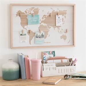Pele Mele Maison Du Monde : p le m le carte du monde 40x40 wooden maisons du monde ~ Melissatoandfro.com Idées de Décoration
