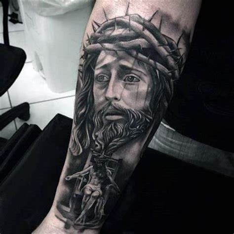 jesus tattoos  men improb