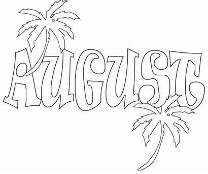 Coloring August Adults Printable Month Preschoolers Unique