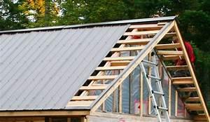 Toiture Metallique Pour Maison : pose d 39 un toit d 39 acier et m tal galvanis pour remise ~ Premium-room.com Idées de Décoration