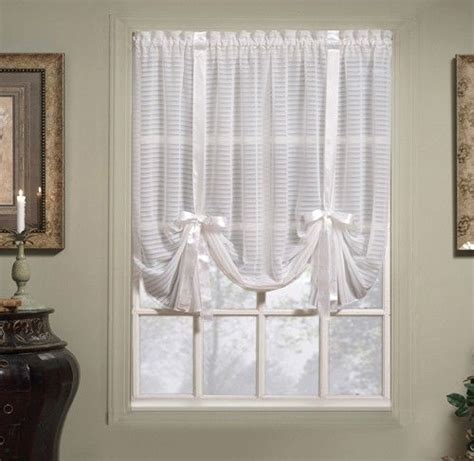 sheer tie  curtain curtain bath outlet silhouette
